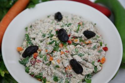 Einkorn muesli with vegetables